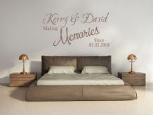 PERSONALISED  Wall Art Quote - Making Memories Since, Wall Sticker,Modern Decal,